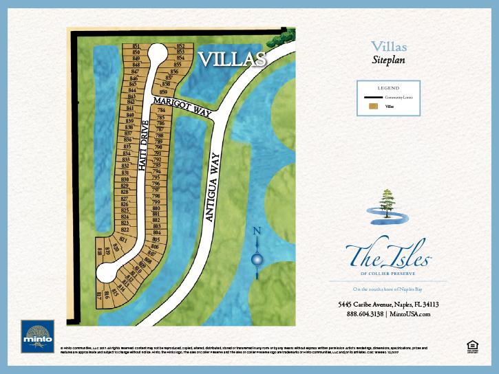 The Isles of Collier Preserve villa site plan 2