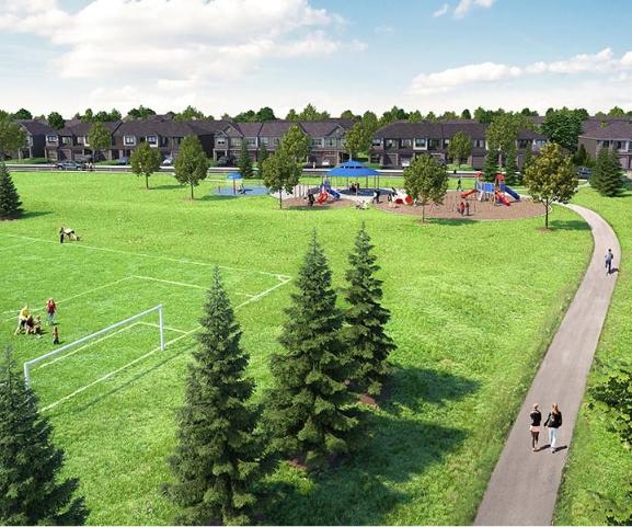 Render of park in Barrhaven Ottawa, Harmony by Minto Communities