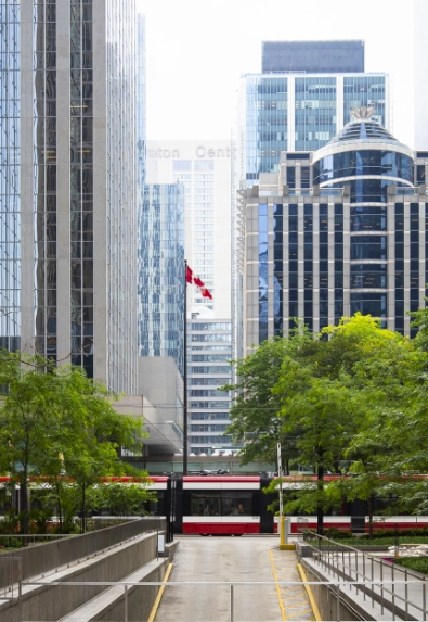 Financial District in Downtown Toronto. New condos for sale at Church & Adelaide. The Saint by Minto Communities.