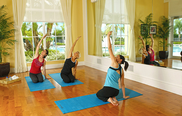 Relax and unwind in the Yoga Studio
