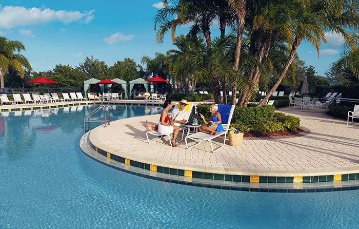 Enjoy the Florida sunshine year round by the pool