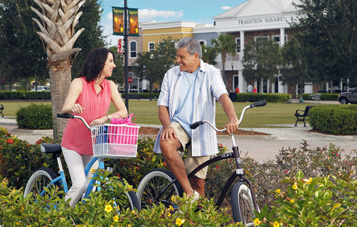 Take a nice bike ride and enjoy the Florida sunshine year-round.