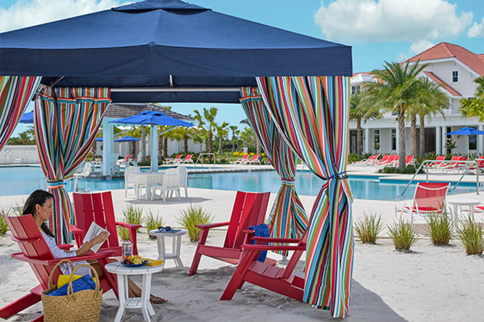 Award-winning Isles Club with private cabanas