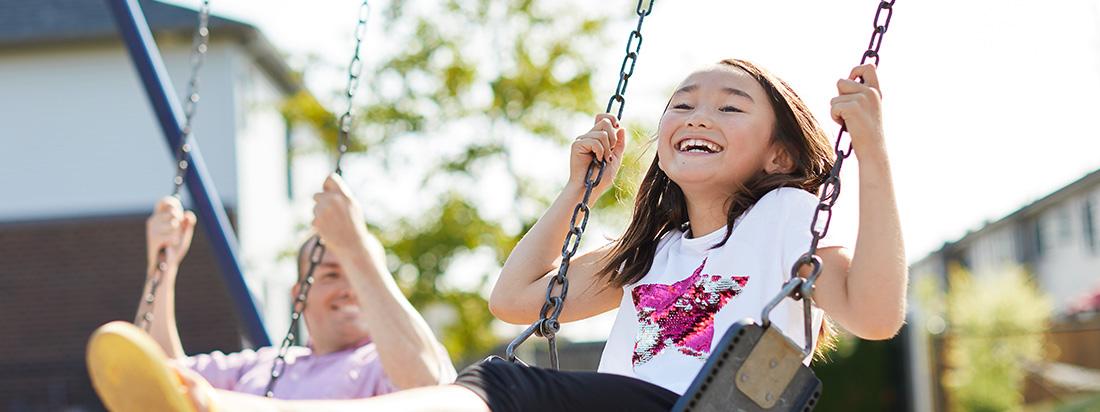Child Swinging in Arcadia Park