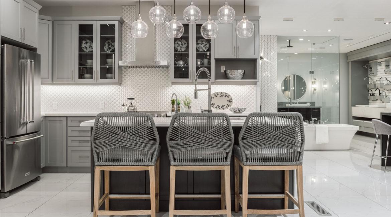 A modern kitchen design at the Minto Design Centre