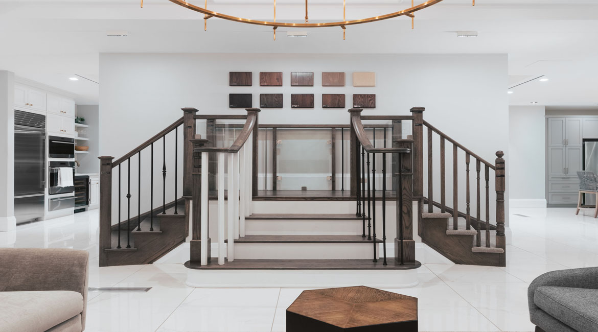 Select your stair finishes at the Minto Design Centre