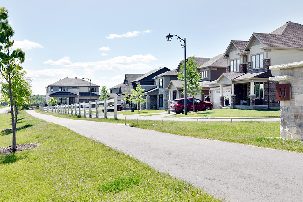 A pathway in Mahogany – a community in Manotick, by Minto Communities