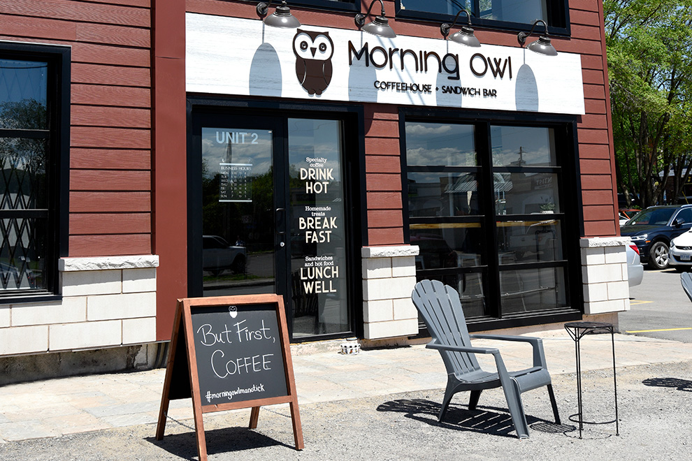 Morning Owl restaurant in Manotick Village - located near Mahogany, a community by Minto Communities