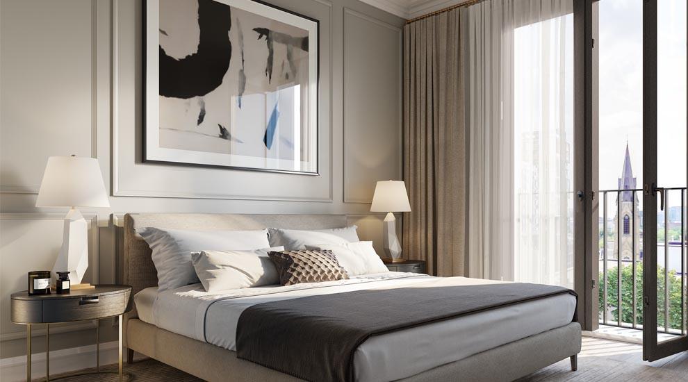 Bedroom at 123 Portland