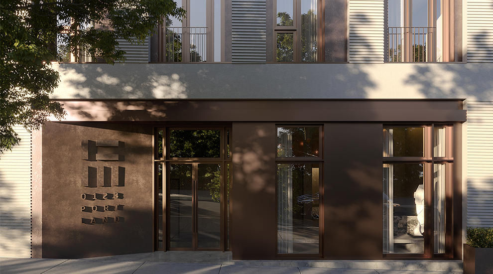Exterior at 123 Portland