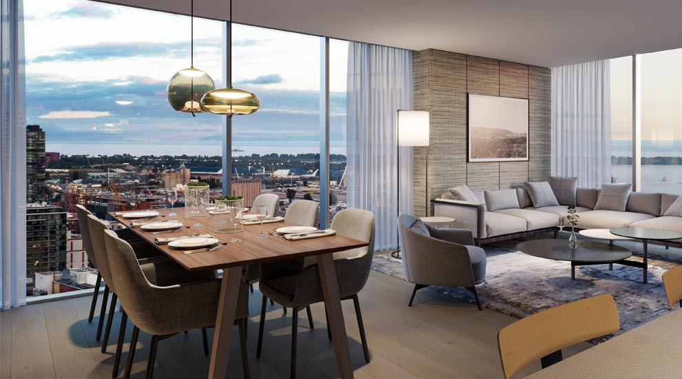 Living/Dining in Suite