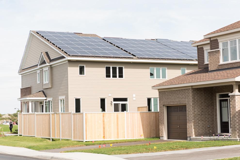 Solar panels on Net Zero towns