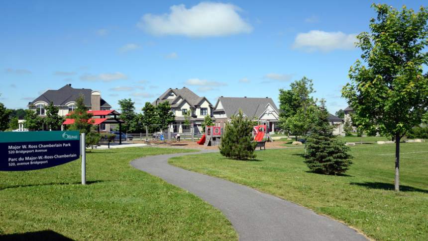 Major W. Ross Chamberlin Park in Mahogany, Manotick - a community by Minto Communities
