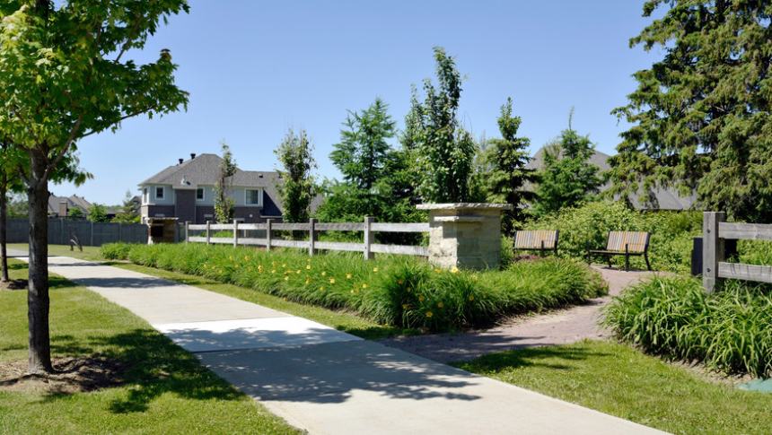 Beautiful paved walkway in Mahogany, Manotick - a community by Minto Communities