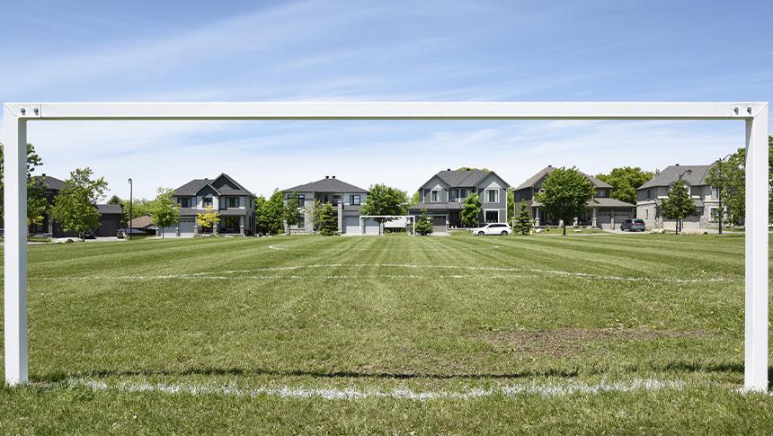 Soccer net in Mahogany, Manotick