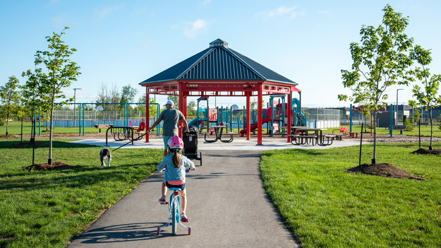 A Gazebo in Don Boudria Park in Avalon, Orleans, a new community by Minto Communities