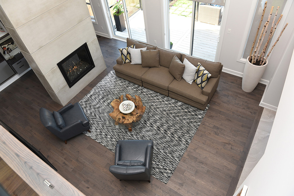 The Cheo Home - Single Family Home - Fireplace and living room - built by Minto Communities