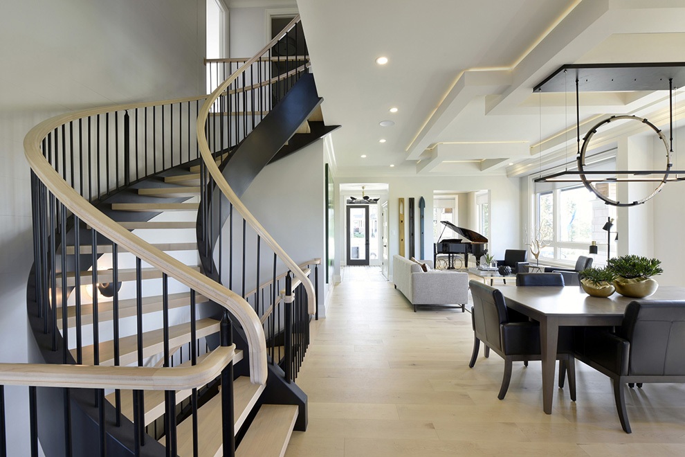 The Cheo Home - Single Family Home - Staircase to second floor - built by Minto Communities
