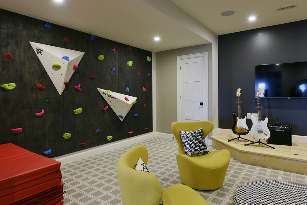 The Cheo Home - Single Family Home - Climbing wall in basement - built by Minto Communities
