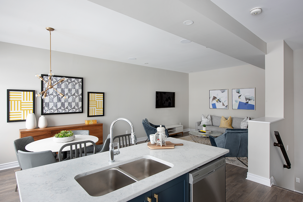 Canal - Avenue Townhome - Breakfast Area and Living Room - by Minto Communities