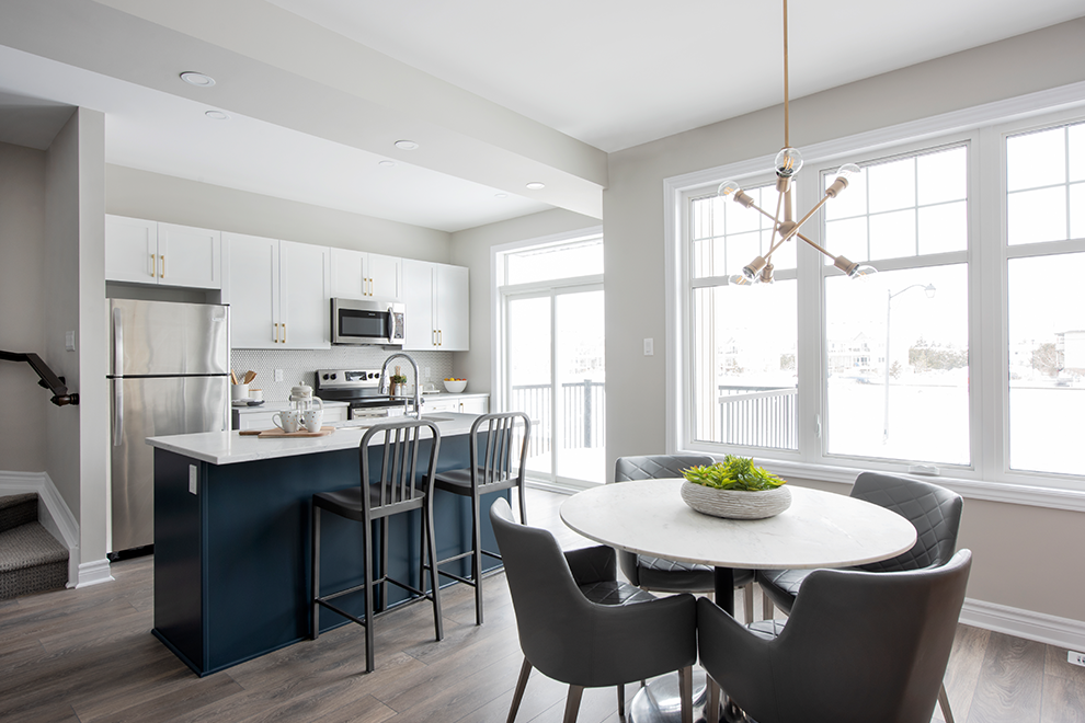 Canal - Avenue Townhome - Breakfast Area and Kitchen - by Minto Communities
