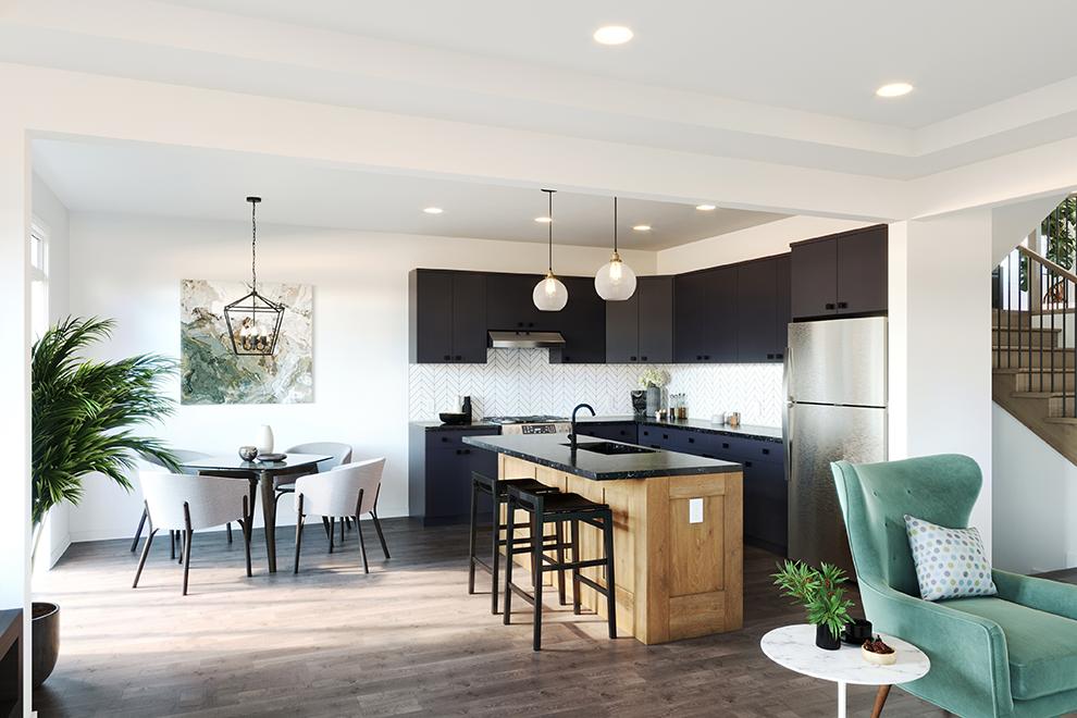 Fairbank - Single Family Homes - Breakfast area and kitchen