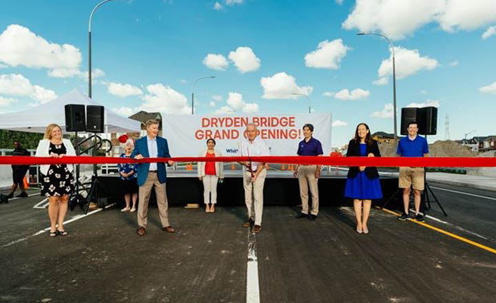 Whitby's long awaited new Dryden Bridge now open for traffic near Ivy Ridge