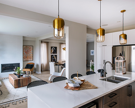 Living Area in the Killarney Single Family Home Brookline Kanata
