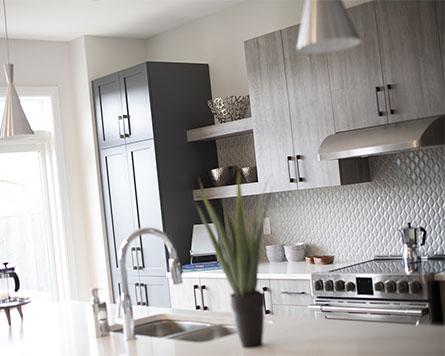 Kitchen in the Clairmont Single Family Home Brookline Kanata