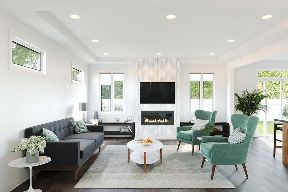 Kanata North – Fairbank: Living Room – Single Family Home