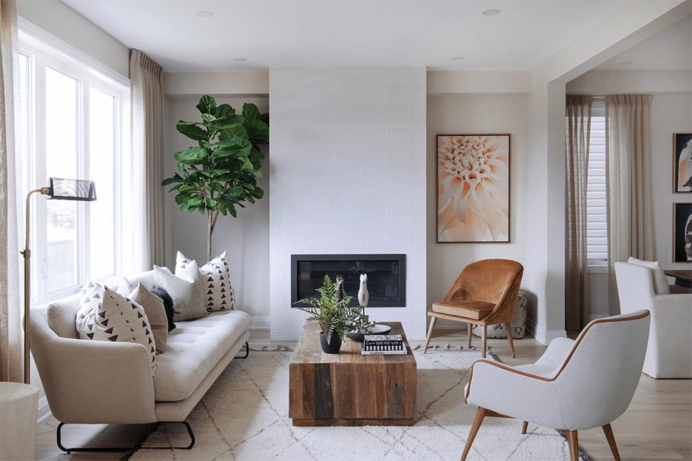 Brookline – Killarney: Living Room – Single Family Home