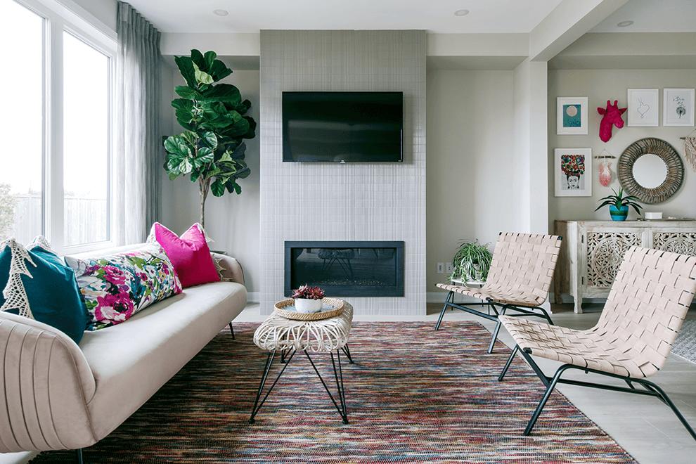 Brookline – Kinghurst: Living Room – Single Family Home
