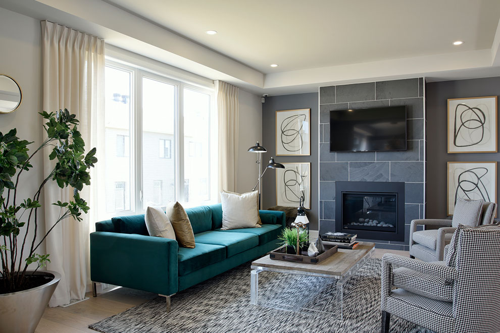 Kanata North – Mackenzie: Living Room – Single Family Home