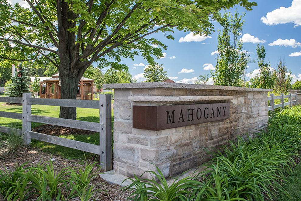Mahogany, Manotick, Community Entrance Feature