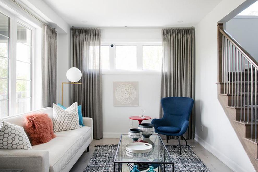 Dahlia - 52' Single Family Home - Living Room - Mahogany, Manotick