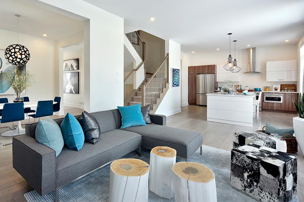 Heartwood - 45' Single Family Home - Living Room - Mahogany, Manotick
