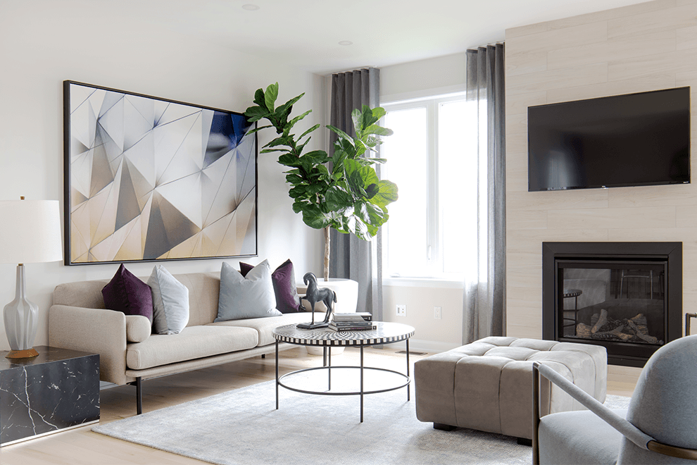 Quinn's Point – Clairmont: Living Room – Single Family Home