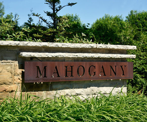 Entrance Feature in Mahogany