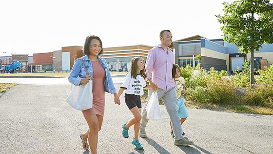 Family shopping in Kanata, Ontario