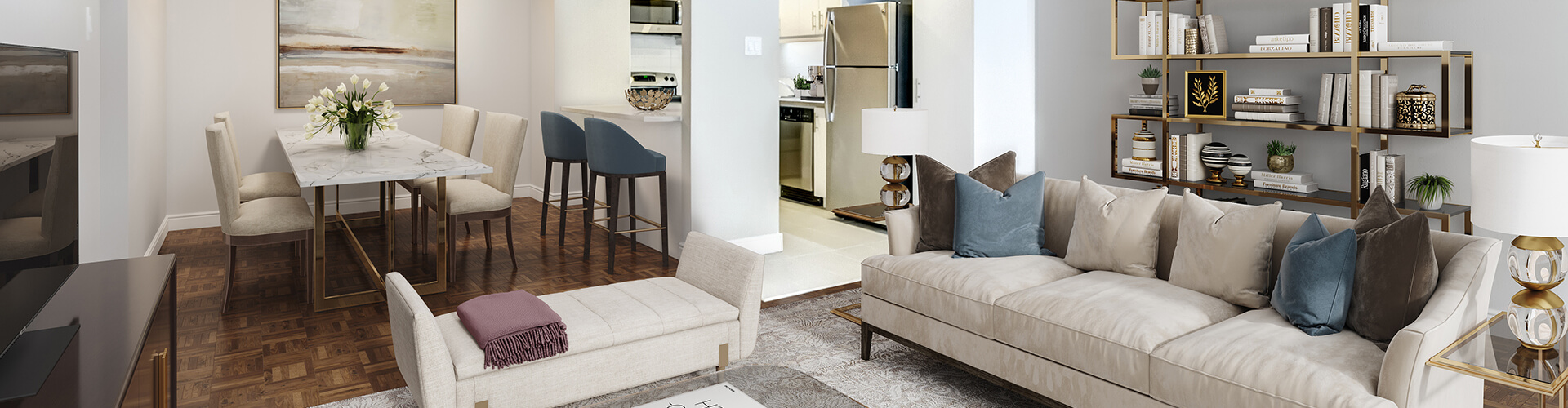 Modern living at Rockhill Apartments in Montreal. Rent with Minto Apartments.