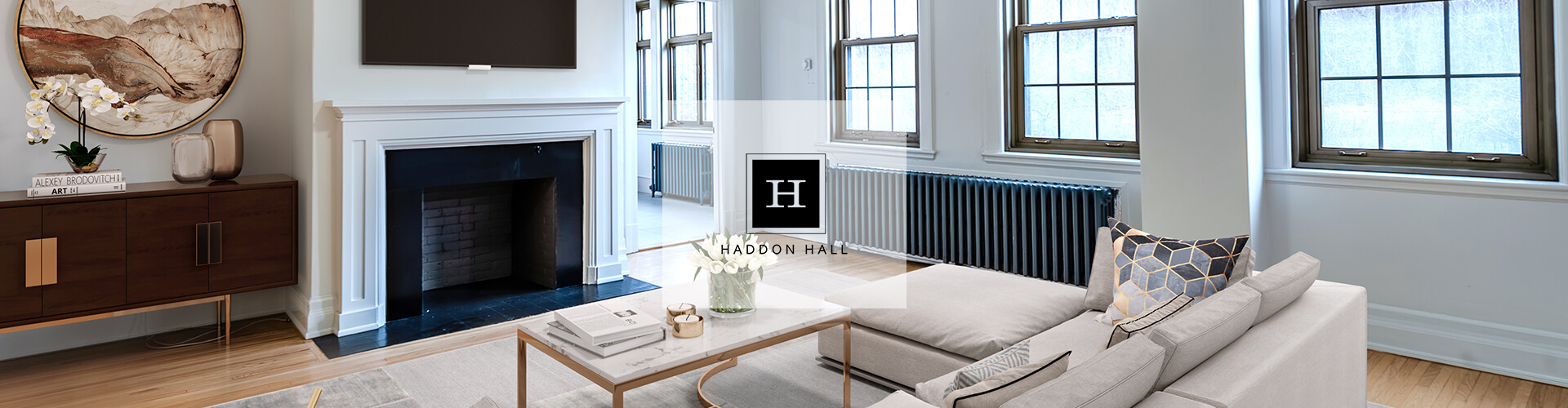 Beautiful living at Haddon Hall Apartments in Montreal. Rent with Minto Apartments.