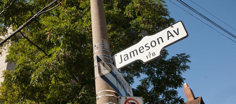 Jameson Avenue apartments Toronto