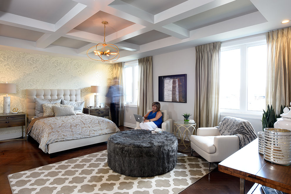 Couple in master bedroom in Marquette, Minto Communities Ottawa