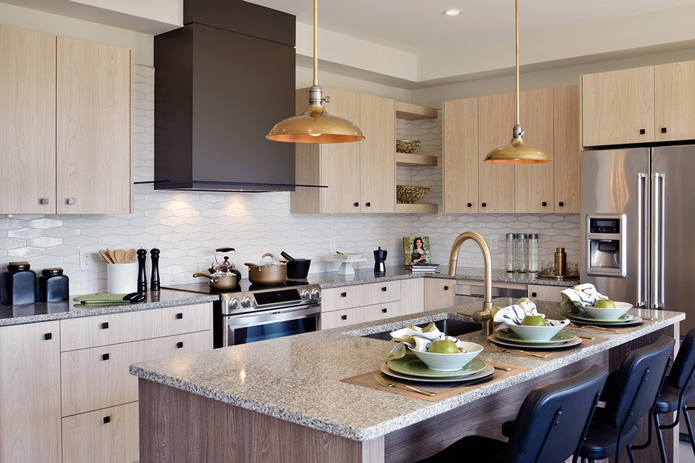 Kitchen at Mackenzie Model Home For Arcadia in Kanata Ottawa