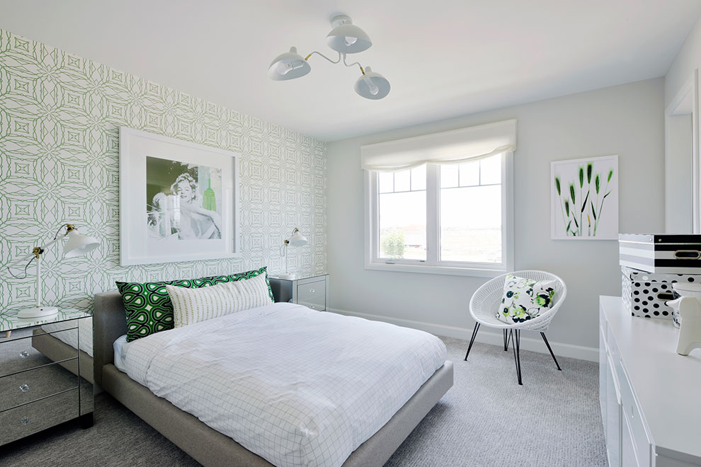 Bedroom at Mackenzie Model Home For Arcadia in Kanata Ottawa