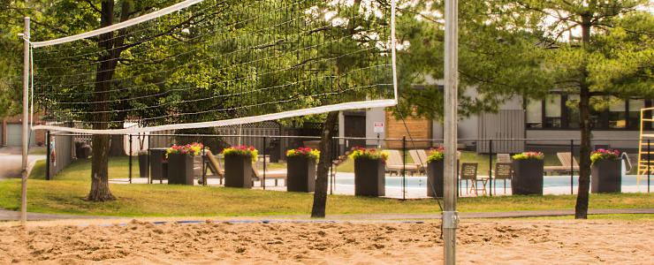 Beach volleyball court at Navaho Walkups