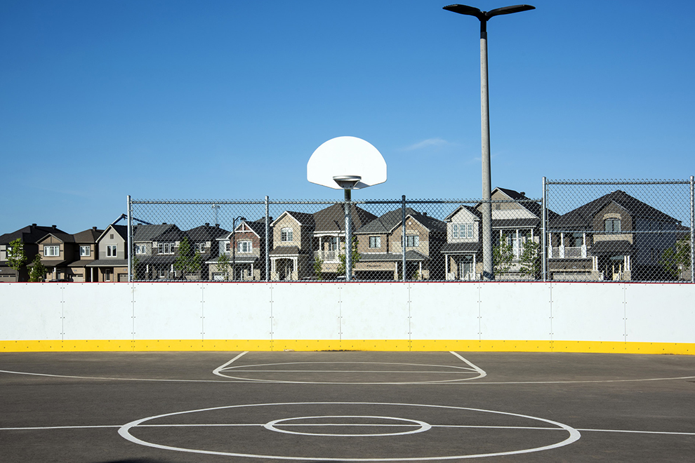 Basketball court at Don Boudria Park in Avalon, Orléans