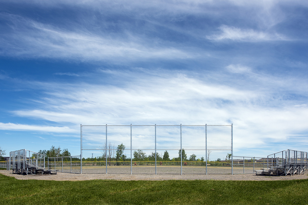 Baseball diamond at Don Boudria Park in Avalon, Orléans