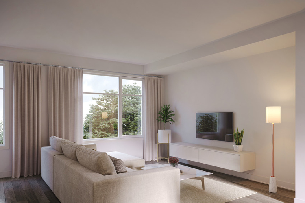 Urban Townhome, The Grey - Living Room