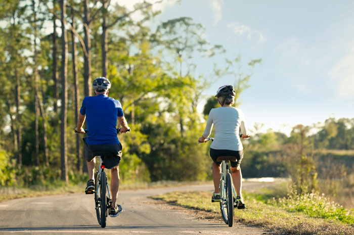 Miles of biking trails take you through the beauty of the community